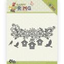 Happy Spring wykrojniki budki i ptaszki 3szt  Precious Marieke