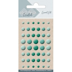 Półperełki samoprzylepne 48szt zielone