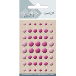 Półperełki samoprzylepne 48szt fiolet