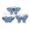 Butterflies wykrojnik Tattered