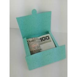 Koperta na pieniądze 8x8cm TURKUSOWA