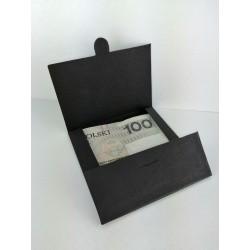 Koperta na pieniądze 8x8cm CZARNA