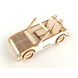 Samochód cabriolet 3D tekturka