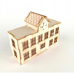 szkoła 3D z tektury