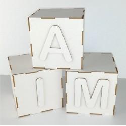 KOSTKA KLOCEK SZEŚCIAN 3D Litera alfabetu