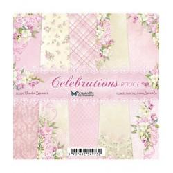 Celebrations Rouge bloczek papierów 15x15cm 20szt