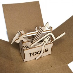 Skrzynka 3D  i narzędzia zestaw 10szt.