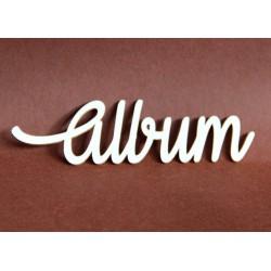 Tekturka napis ALBUM 9cm