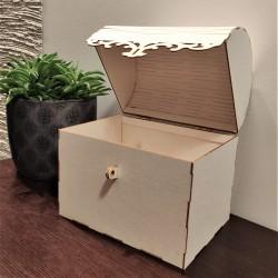 Kufer DUŻY, skrzynia 3D na zawiasach 17x16x12cm