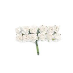 Róże papierowe 1,5 cm 12szt. fioletowe