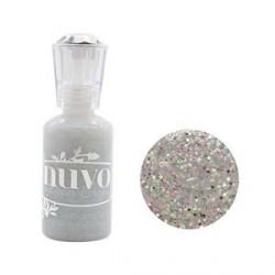 Nuvo  Glitter Drops   Lilac Whisper perełki w płynie brokatowe