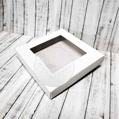 Pudełko 15x15cm OKIENKO KWADRAT z szybką