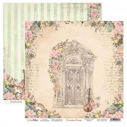 VICTORIAN HOME 01 papier dwustronny 30,5x30,5 cm SCRAPBOYS