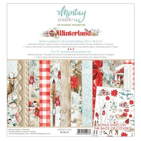 Tiny Miracles ZESTAW 12szt. papiery dwustronne 30,5x30,5 cm MINTAY