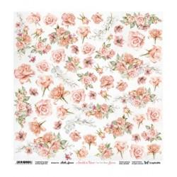 Amidst The Roses Flowers - Arkusz Do Wycinania