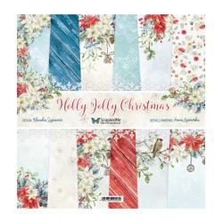 Holly Jolly Christmas ZESTAW papiery 30,5x30,5cm ScrapAndMe