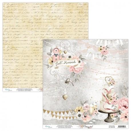 MARRY ME 01 papier dwustronny 30,5x30,5 cm MINTAY