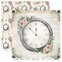 WINTER TIME 03  papier dwustronny 30,5x30,5 cm SCRAPBOYS
