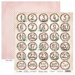 WINTER TIME 05  papier dwustronny 30,5x30,5 cm SCRAPBOYS