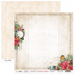 CHRISTMAS WISHES 01 papier dwustronny 30,5x30,5 cm SCRAPBOYS