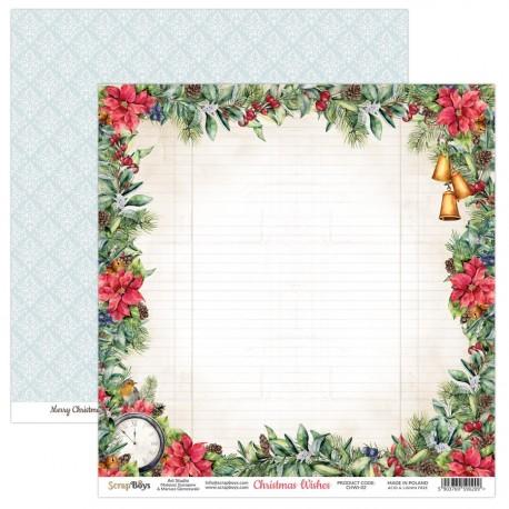 CHRISTMAS WISHES 02 papier dwustronny 30,5x30,5 cm SCRAPBOYS