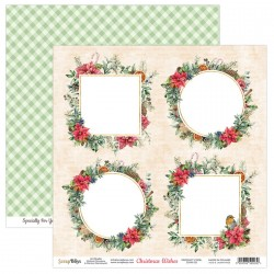 CHRISTMAS WISHES 05 papier dwustronny 30,5x30,5 cm SCRAPBOYS