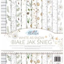 GP Białe jak śnieg - Mały zestaw papierów 15x15cm - Paper Heaven