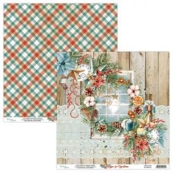 HOME FOR CHRISTMAS 01 papier dwustronny 30,5x30,5 cm MINTAY