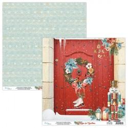 HOME FOR CHRISTMAS 02 papier dwustronny 30,5x30,5 cm MINTAY