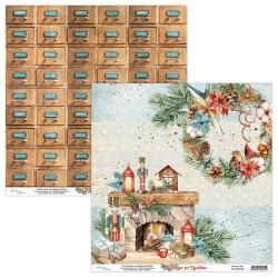 HOME FOR CHRISTMAS 03 papier dwustronny 30,5x30,5 cm MINTAY