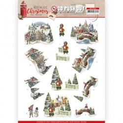 Nostalgic Christmas PUSH OUT ozdoby 3D, arkusz A4