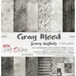GRAY MOOD - zestaw papierów 30,5x30,5cm
