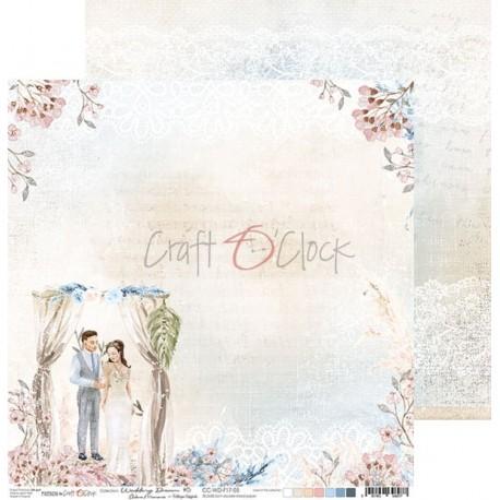 WEDDING DREAM - 04 dwustronny papier 30,5x30,5cm