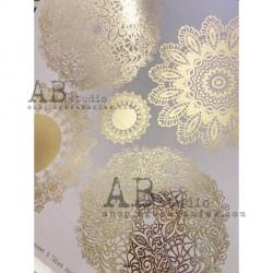 GLAM PAPER Złocony papier 02 - 30x30 Shiny other frames