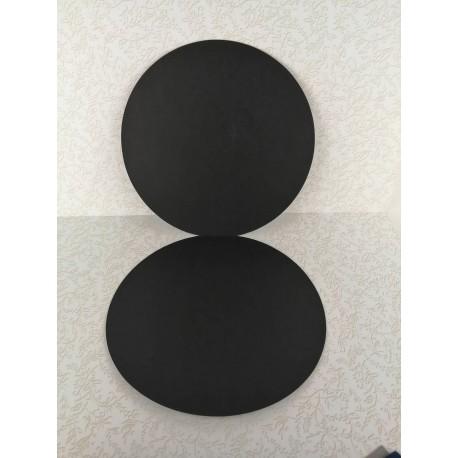 Baza kartka okrągła 14,5x14,5 CZARNA