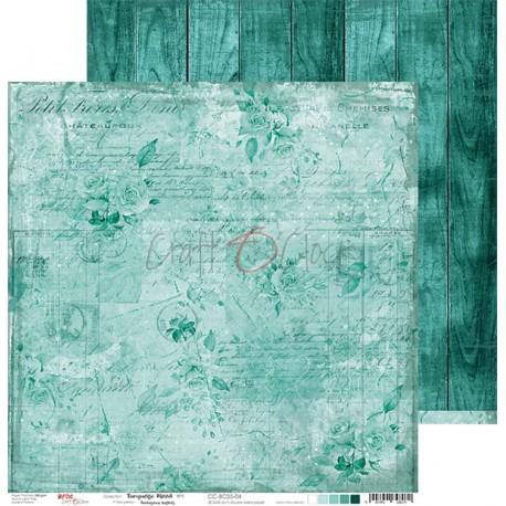 TURQUOISE MOOD - 06 dwustronny papier 30,5x30,5cm