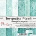 TURQUOISE MOOD - zestaw papierów 15x15cm
