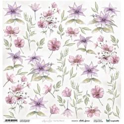 Aquarelles Flowers 1 - Arkusz Do Wycinania ScrapAndMe