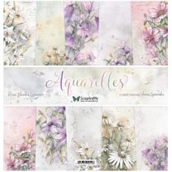 Aquarelles zestaw papierów 30,5x30,5cm ScrapAndMe
