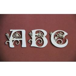 Tekturka INICJAŁ LITERA alfabet 3CM