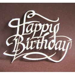 Tekturka napis HAPPY BIRTHDAY 7c