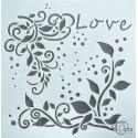 """Maska-Stencil """"Fly away"""" Love"""