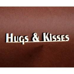Tekturka napis HUGS & KISSES