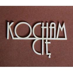 Tekturka napis KOCHAM CIĘ duży