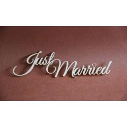 Tekturka napis  JUST MARRIED