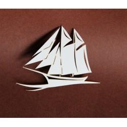 Tekturka ŻAGLÓWKA łódka