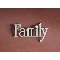 Tekturka napis FAMILY
