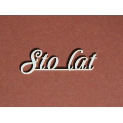 Tekturka napis STO LAT 8c