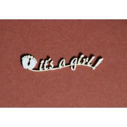 Tekturka napis IT'S A GIRL 22a