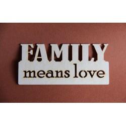 Tekturki FAMILY MEANS LOVE